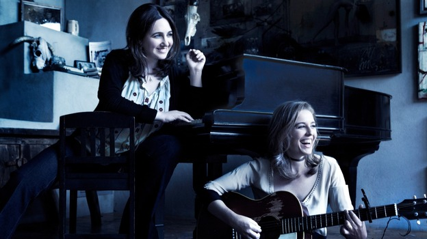 Simone Dinnerstein (left) and Tift Merritt's new album, Night, comes out March 19. (Courtesy of the artist)
