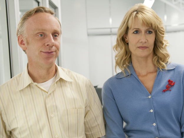 In HBO's <em>Enlightened, </em>Laura Dern stars as corporate executive Amy Jellicoe, who returns from a post-meltdown retreat to pick up the pieces of her broken life. Series creator Mike White stars as Tyler, Amy's friend and co-worker.