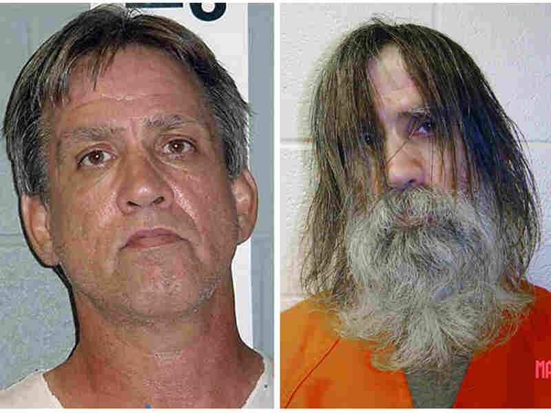 Stephen Slevin, who spent more than 22 months in solitary confinement despite not being convicted of a crime, is seen here in Dona Ana County Sheriff's Department photos, before and after his time in solitary.