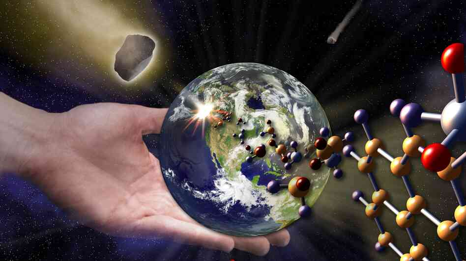 Many of life's building blocks can be found in the objects bombarding Earth from outer space. Does that mean that life, too, developed elsewhere before arriving here?