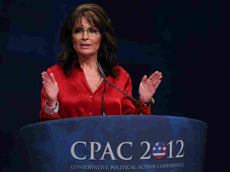 Former Alaska Gov. Sarah Palin addresses the Conservative Political Action Conference at the Marriott Wardman Park Hotel in Washington, D.C., last year.