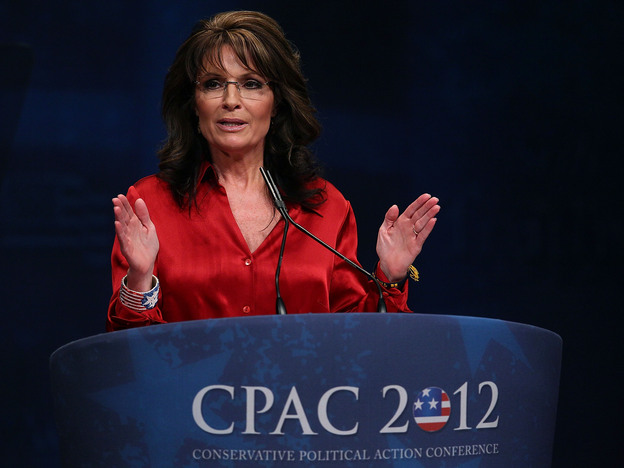 Former Alaska Gov. Sarah Palin addresses the Conservative Political Action Conference at the Marriott Wardman Park Hotel in Washington, D.C., last year.