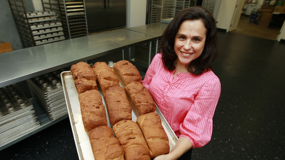 Michele Kelly, owner of Pure Knead bakery in Decatur, Ga., is one of many businesspeople catering to soaring demand for gluten-free baked goods. (AP)