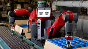 """Baxter is billed by its makers as a """"collaborative manufacturing robot."""" It can work alongside humans to do simple, repetitive tasks."""
