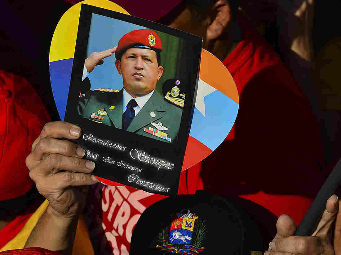 In Caracas, Venezuela, early Friday, supporters of the late President Hugo Chávez were in the streets ahead of his funeral.