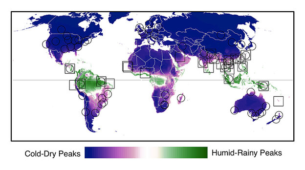 Flu peaks in temperate zones when the humidity is low. In the tropics, it surges when it's humid and rainy.