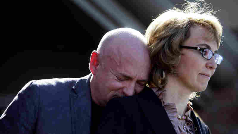 On Wednesday, former Rep. Gabrielle Giffords and her husband, Mark Kelly, attended a news conference at the site of the 2011 attack in which she was shot, 12 other people were also wounded and six people were killed.