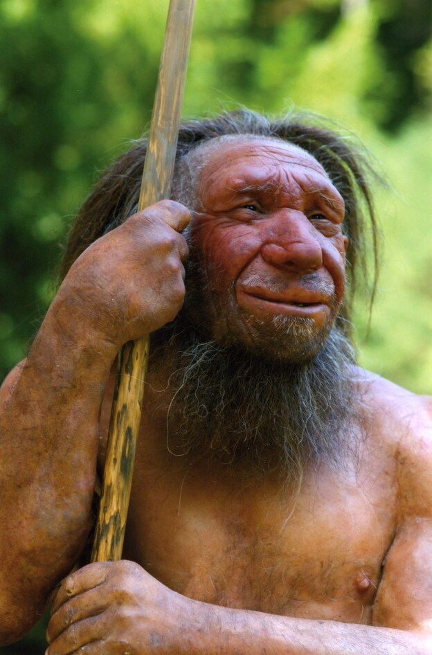 Neanderthal man full body