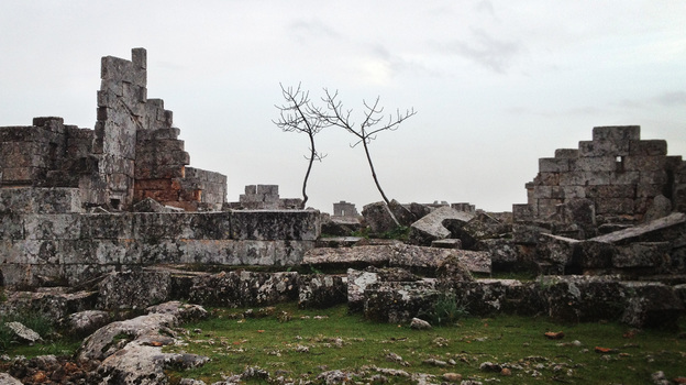 "The Syrian ""Dead City"" of Shanshrah, in northern Idlib province. A U.N. World Heritage site, the Dead Cities of northern Syria date back to the first to fifth centuries. (NPR)"