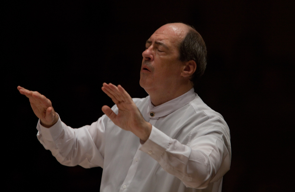"""Although Robert Spano has conducted Golijov's Passion before — and has made a recording — he says he still feels """"totally intimidated"""" by the diversity of the score. """"It was learning a new musical vocabulary,"""" he said. (NPR)"""