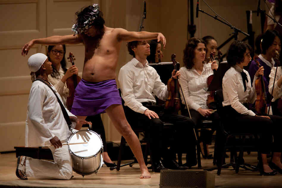 Deraldo Ferreira, left, and Reynaldo Gonzalez-Fernandez, as Jesus, perform in the St. Mark Passion.