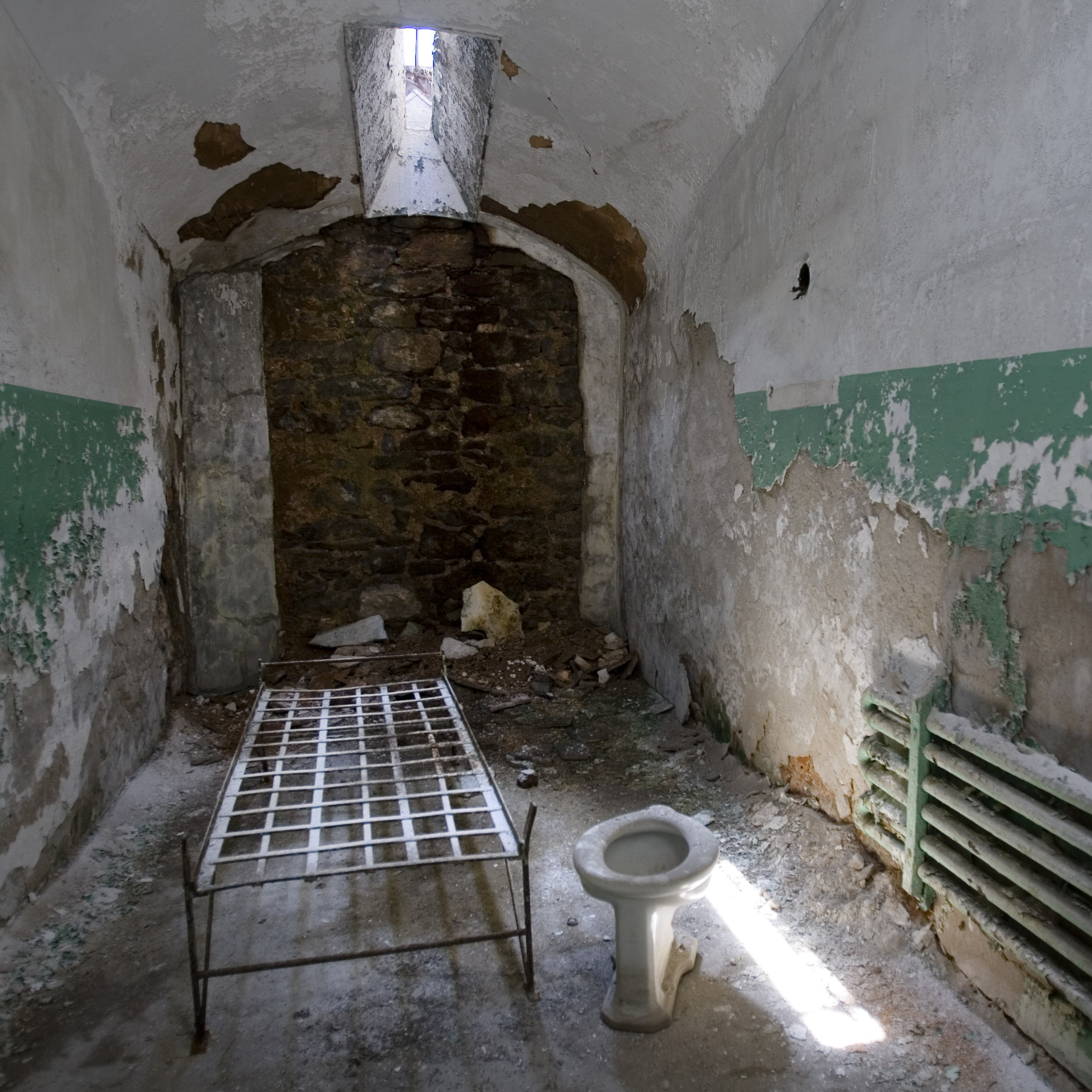 One of the cells at Eastern State Penitentiary in Philadelphia.