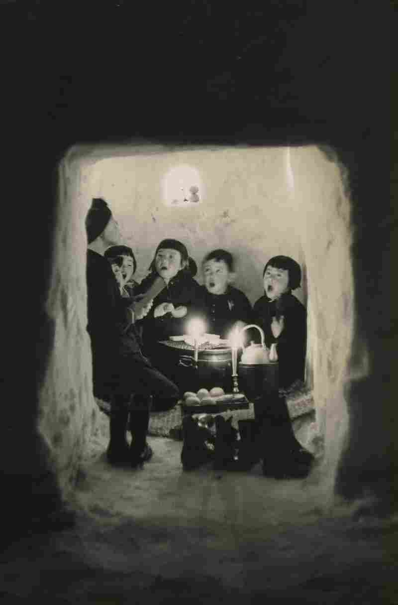 Children Singing in a Snow Cave, Niigata Prefecture, 1956