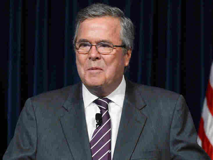 Former Florida Governor Jeb Bush speaks at the Reagan Library after autographing his new book 'Immigration Wars: Forging an American Solution' on March 8 in Simi Valley, Calif.