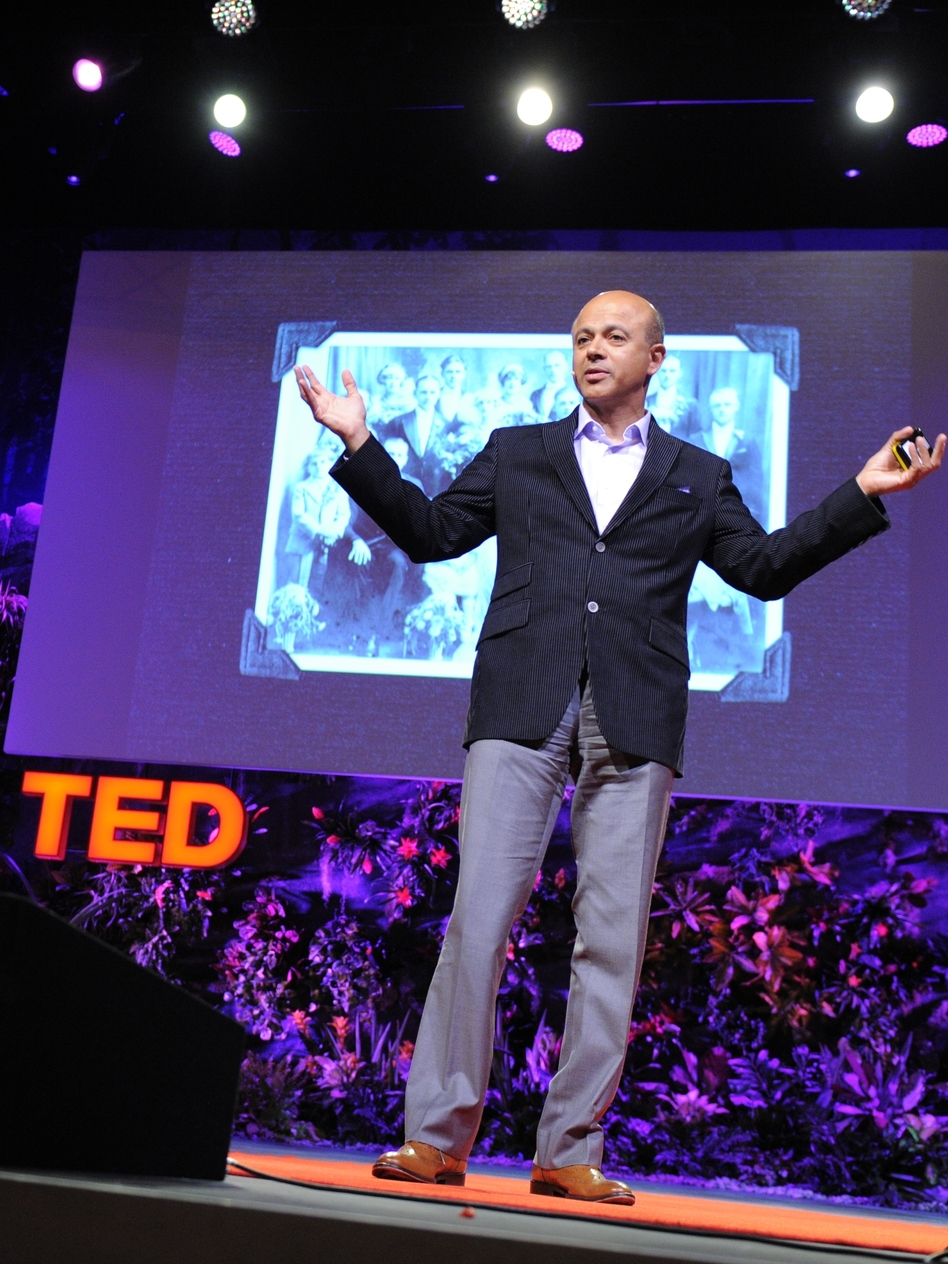 """Only the hand can tell where it's tender, where the patient winces."" — Abraham Verghese (James Duncan Davidson/TED)"