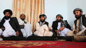 District government officials in Kandahar province meet to discuss security and governance challenges as NATO troops draw down.