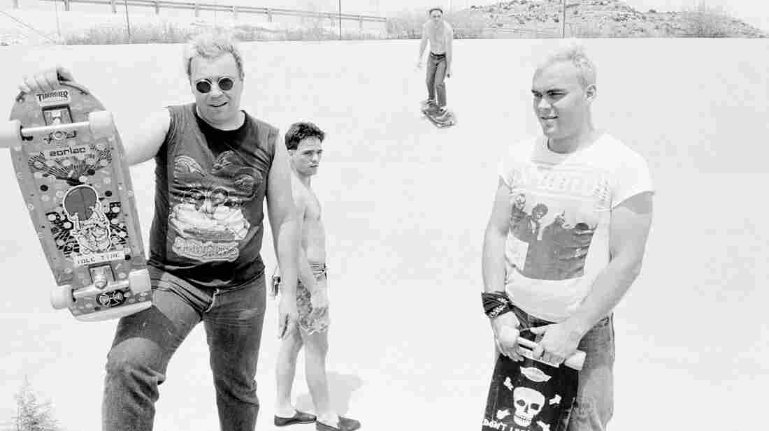 "Big Boys in West Texas on the way to California in 1982. Randy ""Biscuit"" Turner is at the left, Chris Gates at the right, and Tim Kerr at the back."