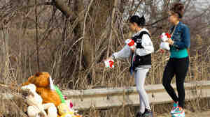 Friends and family of the six teenagers killed in a car crash brought stuffed animals and
