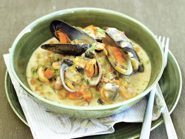 Rachel Allen's recipe for Molly Malone's Cockle and Mussel Chowder derives its name from a popular Irish folk song.