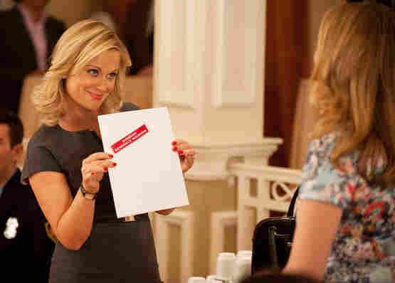 Amy Poehler plays Leslie Knope on NBC's Parks and Recreation.