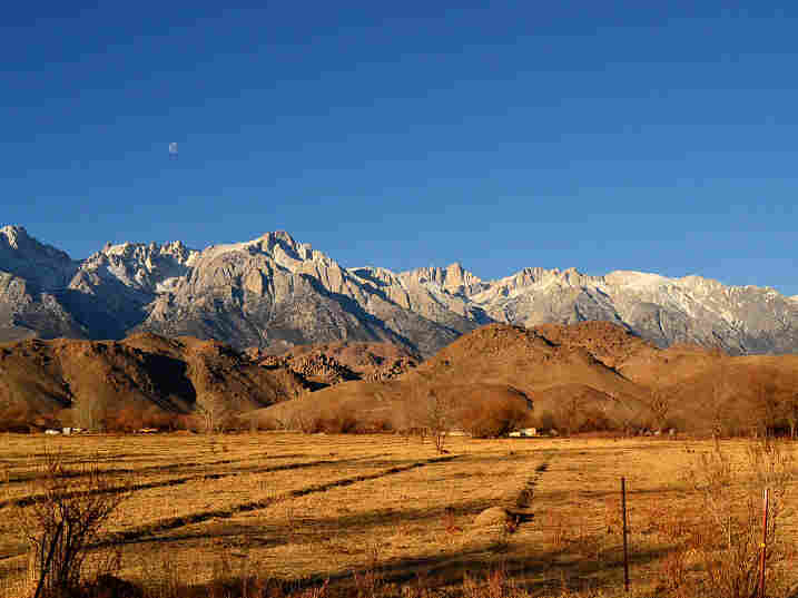 Owens Valley and the Sierra Nevada, the high desert environment that is drier today because of a century worth of water diversions to Los Angeles, some 200 miles away.