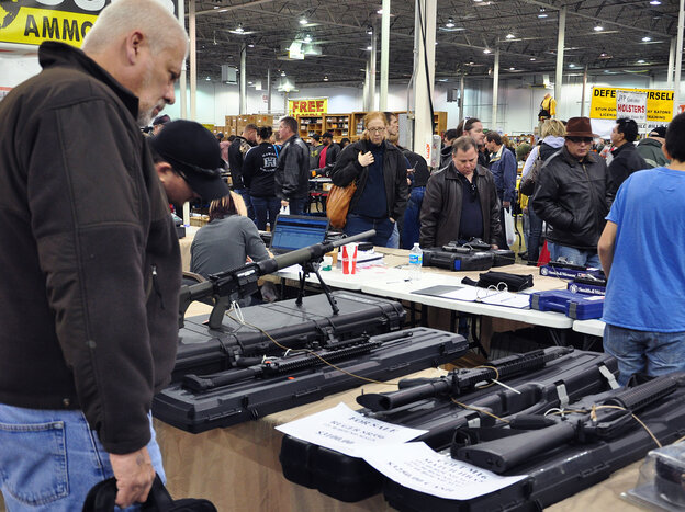Gun show in Chantilly, Va., last December
