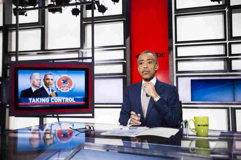The Rev. Al Sharpton, founder and president of National Action Network, prepares for his MSNBC show PoliticsNation in January.