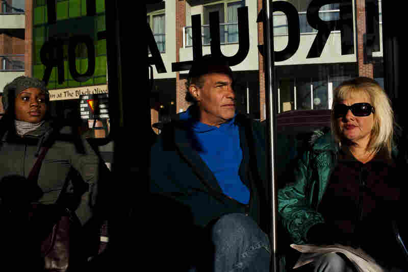 """Tony Lithgow, 49, and Andrea Mayer (right), 51, live together on the streets of Baltimore. They are part of a growing number of the nation's homeless who are reaching """"premature old age."""""""