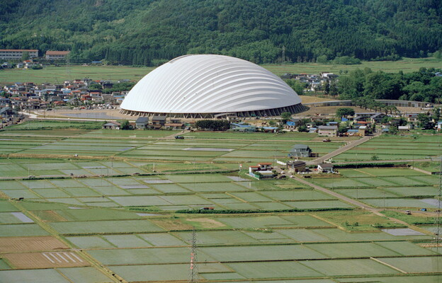 Dome in Odate (multipurpose dome), Odate-shi, Akita, Japan (Toyo Ito & Associates,  Architects)