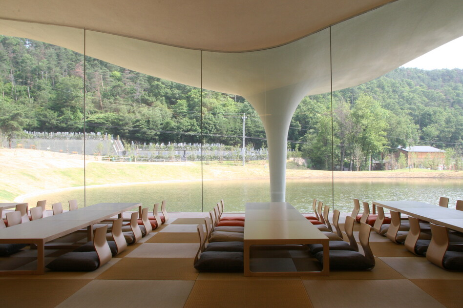 Meiso no Mori, Municipal Funeral Hall, 2004-2006, Kakamigahara-shi, Gifu, Japan (Toyo Ito & Associates,  Architects)