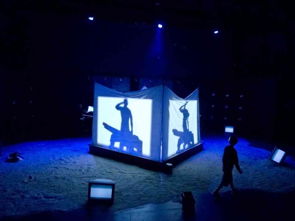 A scene from the theatrical staging of David T. Little's Soldier Songs at the Prototype Festival in New York in January.