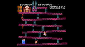 A screenshot shows game designer Mike Mika's Donkey Kong: Pauline Edition he created for his daughter show she could play as a female hero.