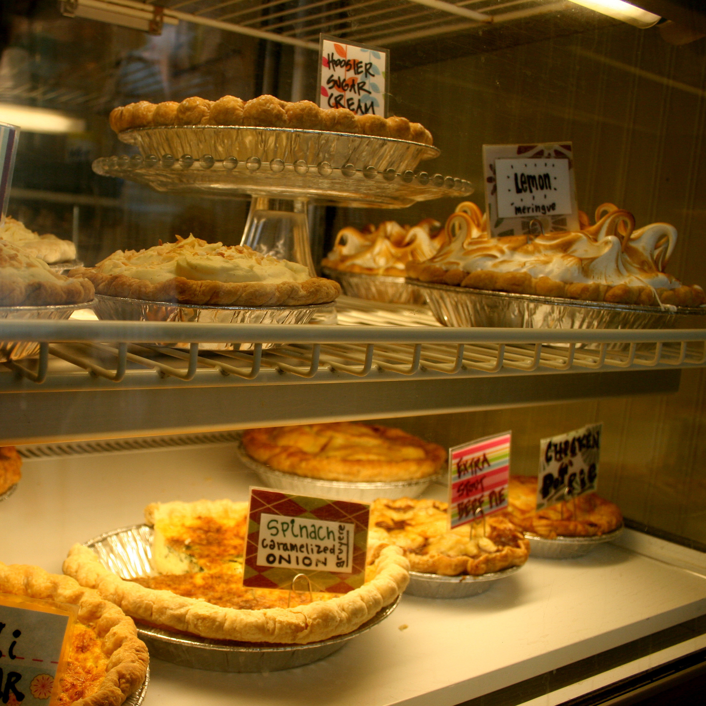 Sweets and savories on display at Chicago's Hoosier Mama Pie Co., part of the city's burgeoning pie scene.