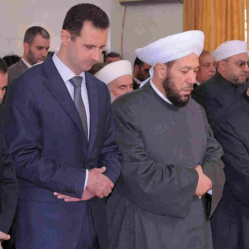 In Secular Syria, Top Muslim Cleric Picks Sides In Civil War