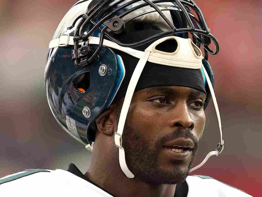Michael Vick of the Philadelphia Eagles on the sidelines during a game against the Arizona Cardinals.