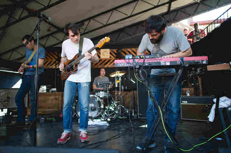 Funky and spaced-out, the Spanish band Delorean brought the club outdoors at The Mohawk.