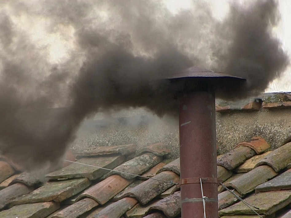 Black smoke rose from the chimney on the Sistine Chapel at midday Wednesday in Vatican City. That means the cardinals have not yet chosen a new pope.
