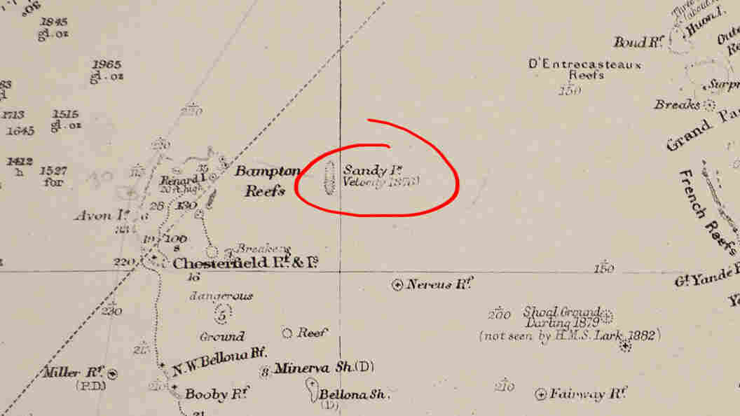 Sandy Island, highlighted.