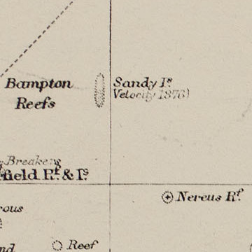 Pacific Ocean. Sandy Island, observed by Velocity in 1876.