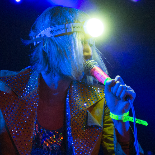 Yeah Yeah Yeah's Karen O lights up the night at Stubb's during NPR Music's SXSW showcase.