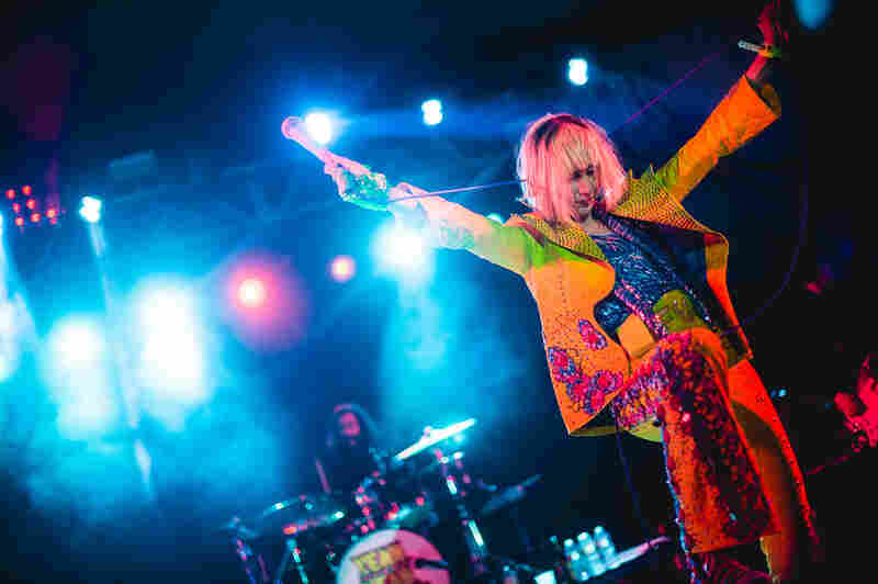 Karen O led the Yeah Yeah Yeahs through a set at NPR Music's SXSW showcase at Stubb's in Austin, Texas that included songs from the band's new album, Mosquito.