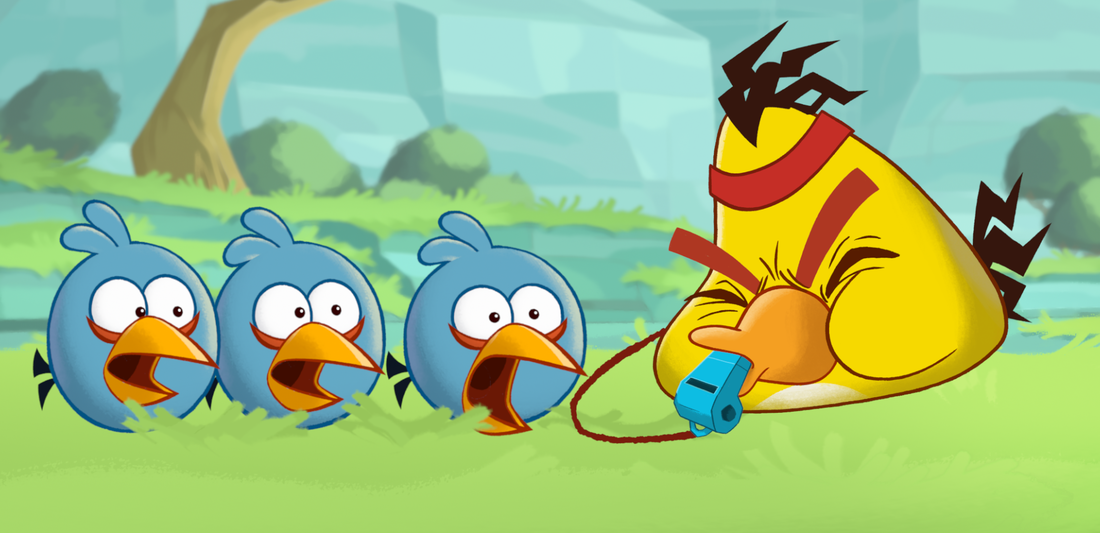 A scene from the upcoming animated series based on the popular game Angry Birds. The show will be distributed to existing users of the digital game.