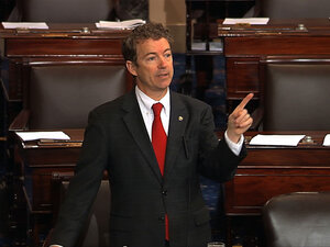 Kentucky Sen. Rand Paul filibusters John Brennan's nomination as CIA director last week. Paul is scheduled to speak Thursday at CPAC.