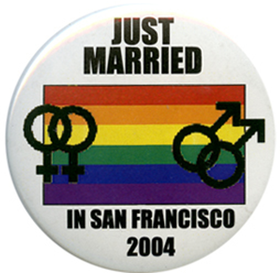 For a brief time in 2004, then-S.F. Mayor Gavin Newsom issued marriage licenses to same-sex couples.