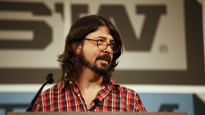 Dave Grohl gives the keynote speech at SXSW 2013.