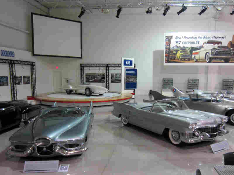 Cars at the GM Heritage Center in Sterling Heights, Mich., include a 1951 Le Sabre concept, at left.