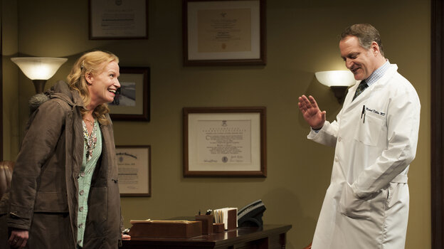Johanna Day as Margie and Andrew Long as Mike in the recent Arena Stage production of David Lindsay-Abaire's Goo