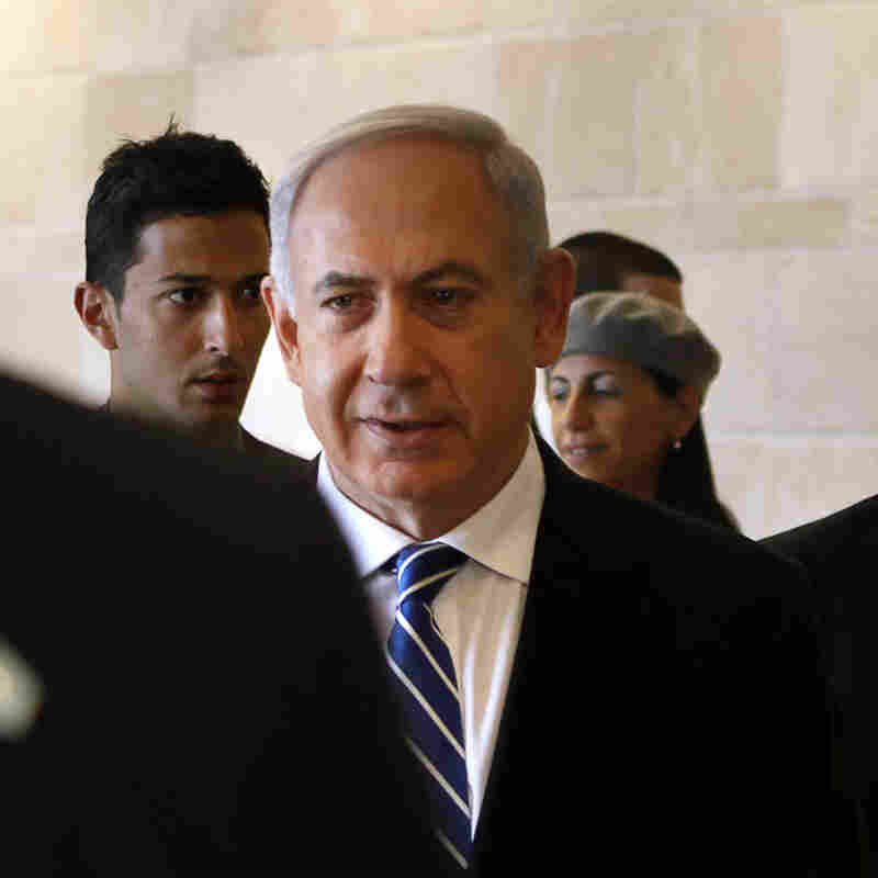 Israeli Prime Minister Benjamin Netanyahu arrives for a meeting in Israel's parliament, the Knesset, on Thursday. Netanyahu has reached agreement with other factions to form a coalition government following an election in January.
