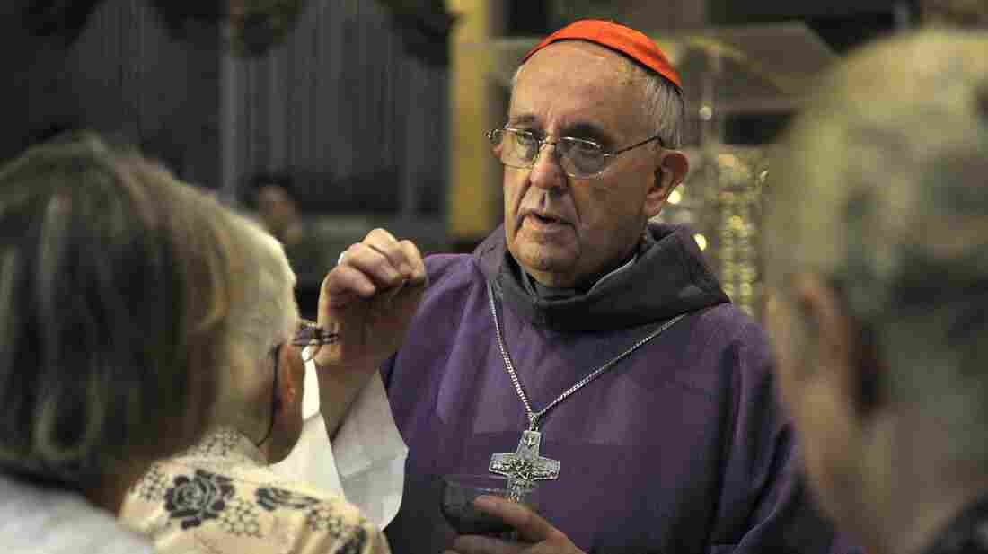 Pope Francis — then Argentine Archbishop Jorge Bergoglio — on Ash Wednesday in Buenos Aires, Argentina, on Feb. 13.