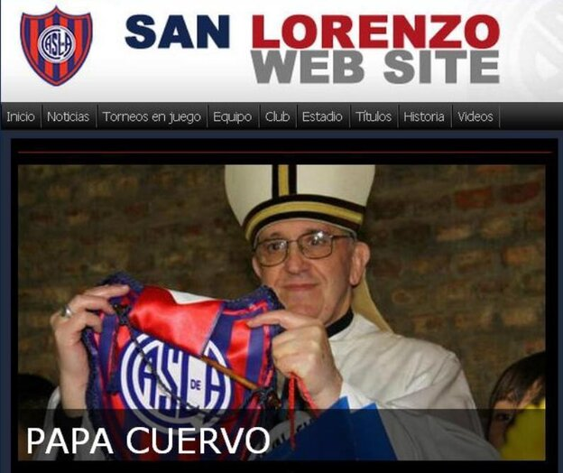 "The San Lorenzo football club is very excited to have ""Papa Crow"" on its side."